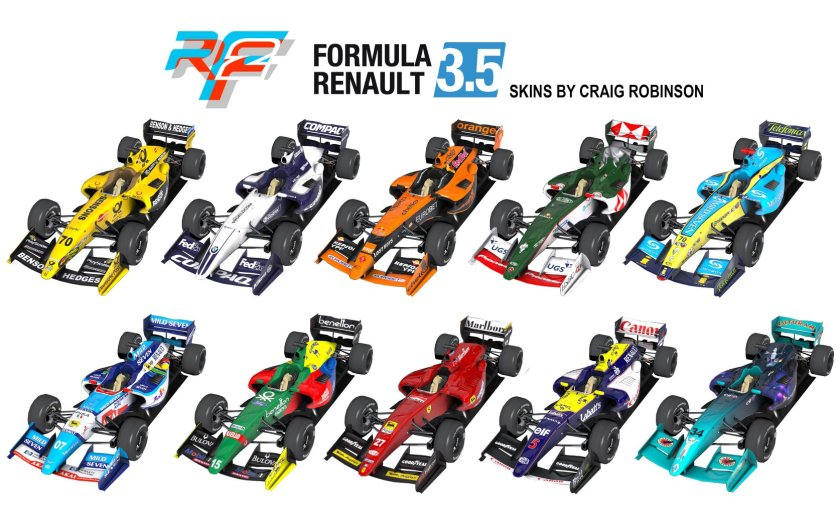 FR3.5 designs by Craig Robinson