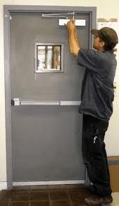 panic bar door install