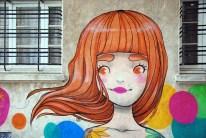 Girl on Wall