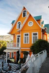 Orangenes Haus