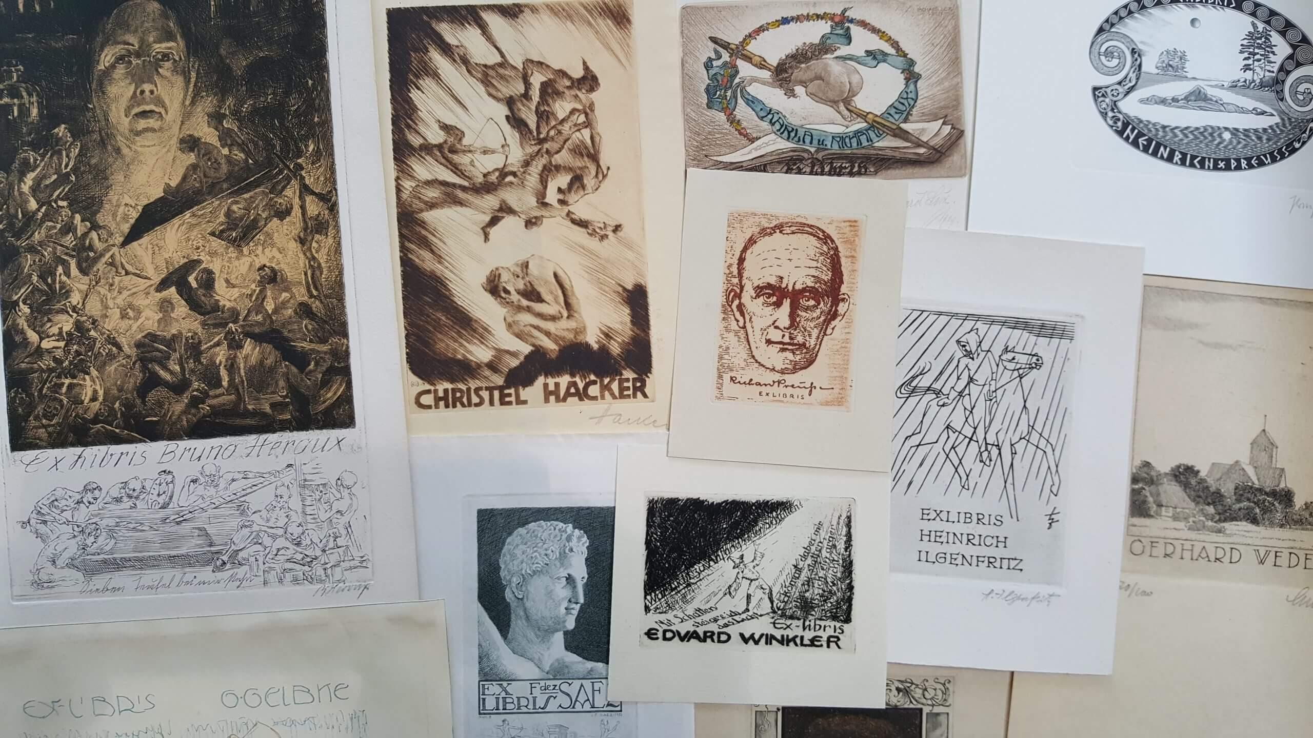 Website Bild Künstler+Archiv(e) - Künstler 2 Exlibris-Werklisten