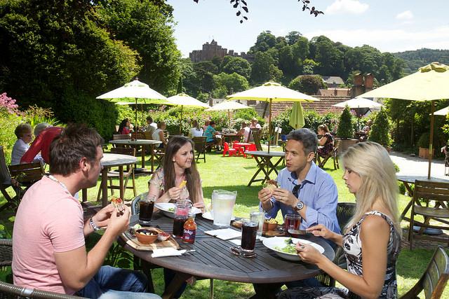 Pub lunch, Dunster, Exmoor