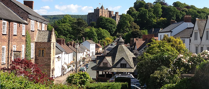 Dunster village in Exmoor
