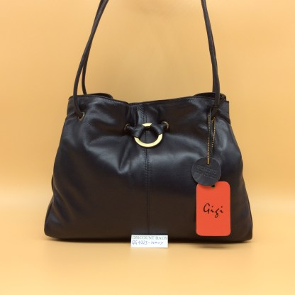GIGI Leather Bag - 4323G. Navy