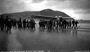 Bleriot monoplane at Minehead 1914