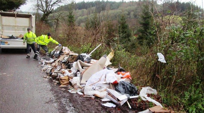 CRACKING DOWN ON FLY-TIPPERS IN NORTH DEVON