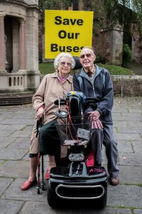 Mary Mayfield and her 90-year-old husband Ray say the threatened routes provide a vital life-line. Photo: Andrew Hobbs