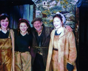 Gerald with 'the girls' on set for The Land Girls.