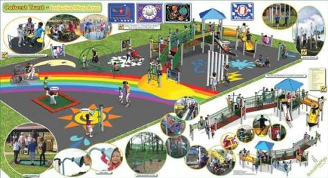 Artist's Impression of the accessible play area