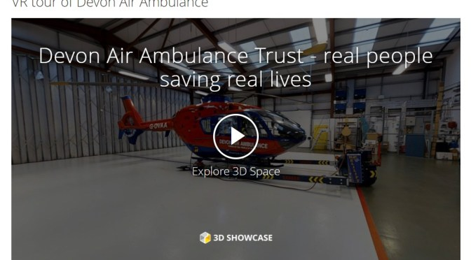 VIRTUAL REALITY EXPERT GIVES DEVON AIR AMBULANCE A 360° HELICOPTER WALK-THROUGH