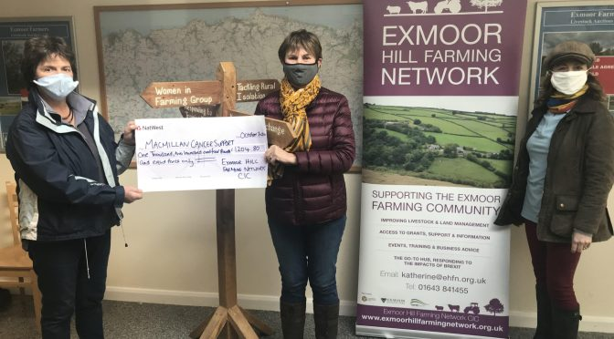 Exmoor Hill Farming Network cake sales raise over £1,200 for Macmillan!