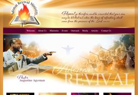 Adonai Revivial Church Web Design