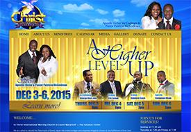 Christ International Ministries Church web design