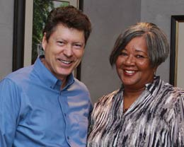 William Mangum is seen today with Bonnie Harris who is now the director of Hanah's Haven in Greensboro.