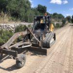 Anivelación de caminos en san Joan