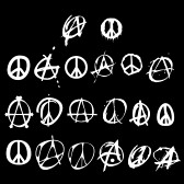 Anarchy and peace logo