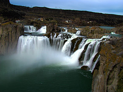 Shoshone Falls, in the Snake River Canyon, next to Twin Falls, Idaho. One of our playgrounds as kids.
