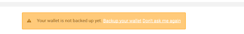 Backup your eXo Wallet