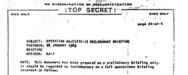"""Майкл Салла - Новое расследование показывает, что спорный документ Комитета """"Маджестик-12"""", раскрывающий контакты с инопланетянами, является подлинным MJ-Briefing-1989-prelim-briefing-only"""