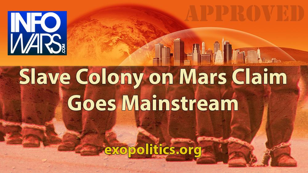 Slave Colony on Mars Claim goes Mainstream