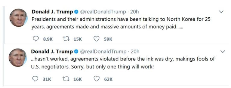 Майкл Салла - Мирные переговоры в Северной Корее стали возможными благодаря тайной космической программе ВВС США Trump-North-Korea-Only-One-Solution