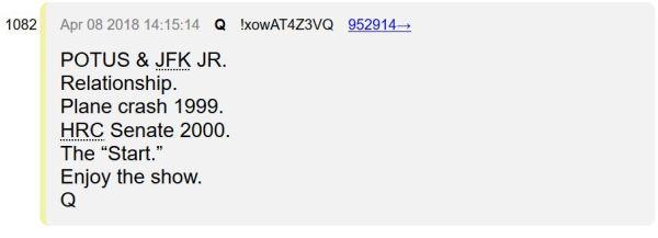 Майкл Салла: QAnon — это американская военная разведка, которая привлекла Трампа к президенству, чтобы избежать государственного переворота Clinton-and-JFK-Jr-Plane-Crash