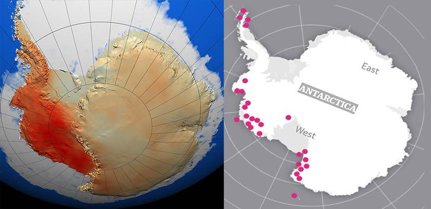 Ученные подтверждают, что вулканы способствуют быстрому таянию ледникового щита Антарктиды
