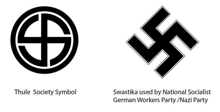 Майкл Салла - QАнон  раскрывает связи между нацистами и Глубинным государством и попытки развязать войну между США и Россией Thule-and-Nazi-Symbols-72px