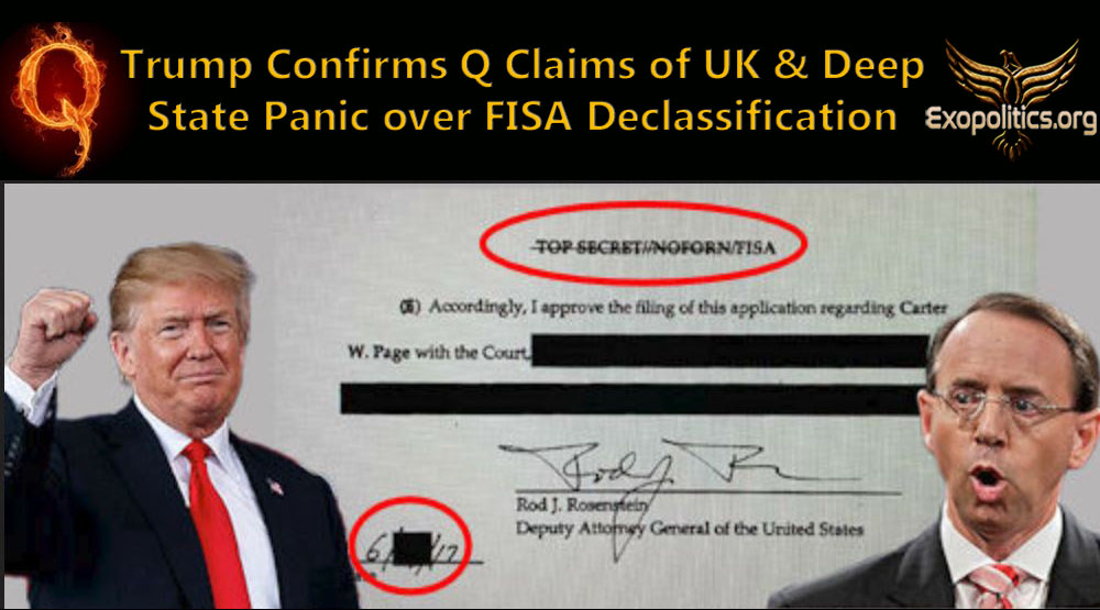 Trump Confirms Q Claims of UK & Deep State Panic over FISA Declassification