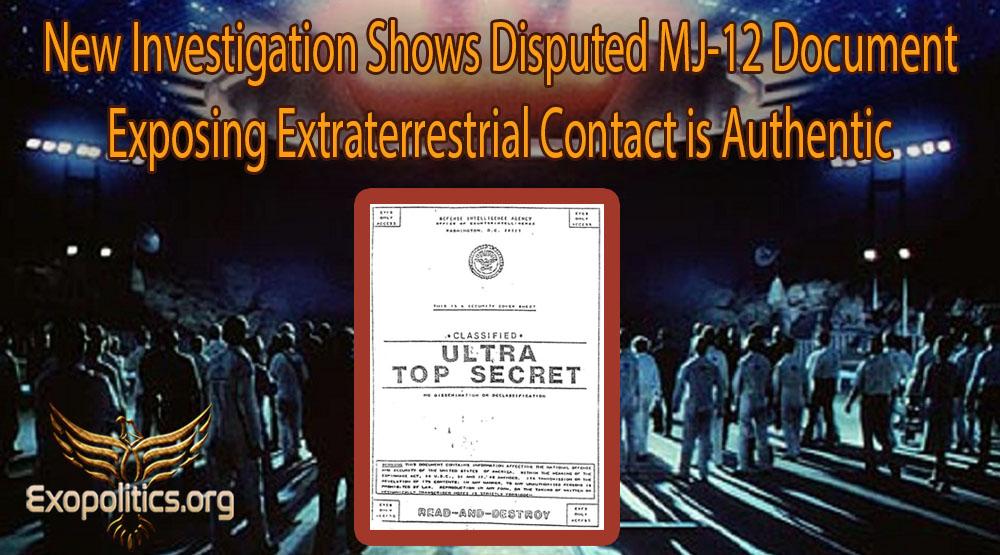 """Майкл Салла - Новое расследование показывает, что спорный документ Комитета """"Маджестик-12"""", раскрывающий контакты с инопланетянами, является подлинным NewMajesticDocument-Holds-up-to-Scientific-Scrutiny-1"""