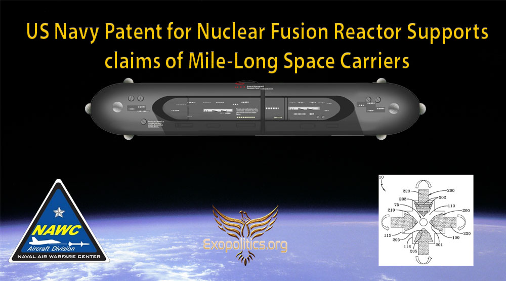 US Navy Patent for Nuclear Fusion Reactor Supports claims of Mile-Long Space Carriers