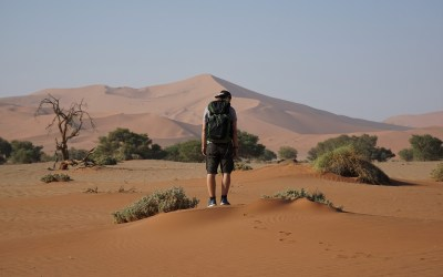 Het Namib-Naukluft park en de duinen van Sossusvlei