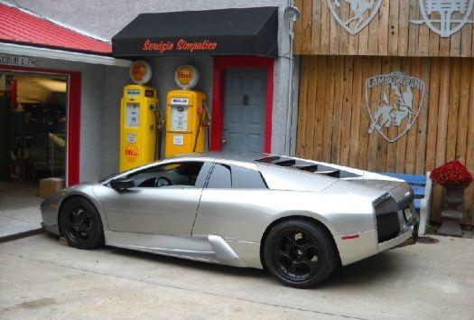 silver Lamborghini Murcielago