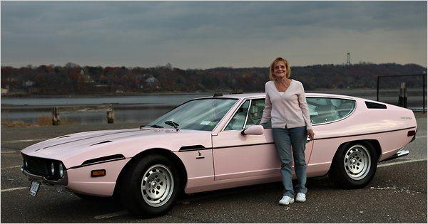 Pink Lamborghini Espada restoration