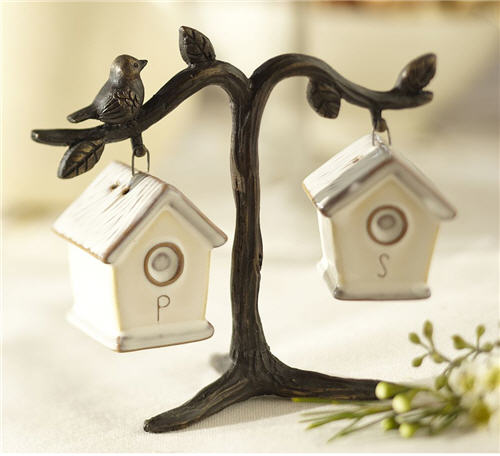 Bird House Salt & Pepper Shakers