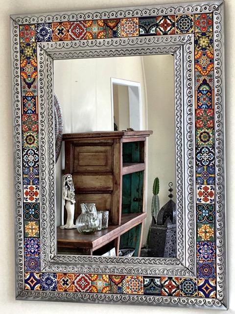 Mexican Tin Amp Tile Mirror Large Furniture Lighting
