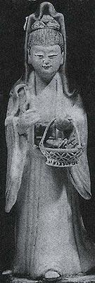 Kuan Yin Holding a Fisherwomen's Basket