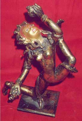 Tibetan Gold Painted Statue