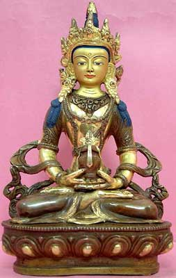 Gold Painted Tibetan Sculpture