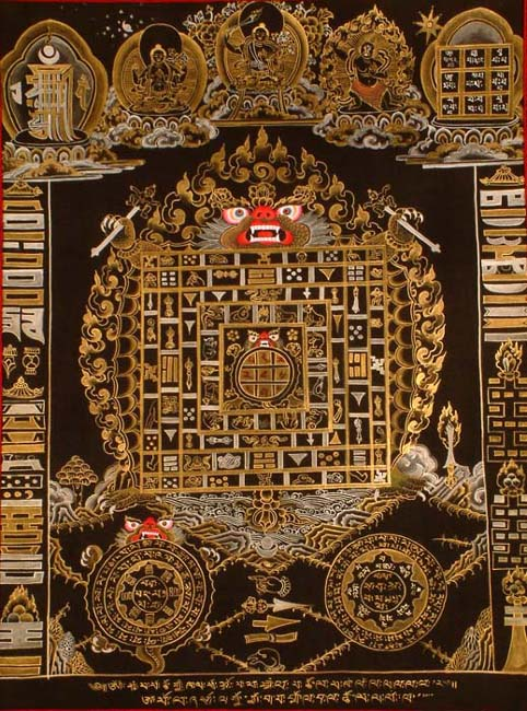 Tibetan Astrological Diagram with Magic Square