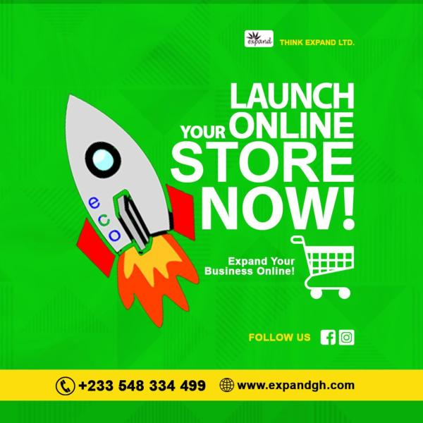 launch your own online store; expandgh.com