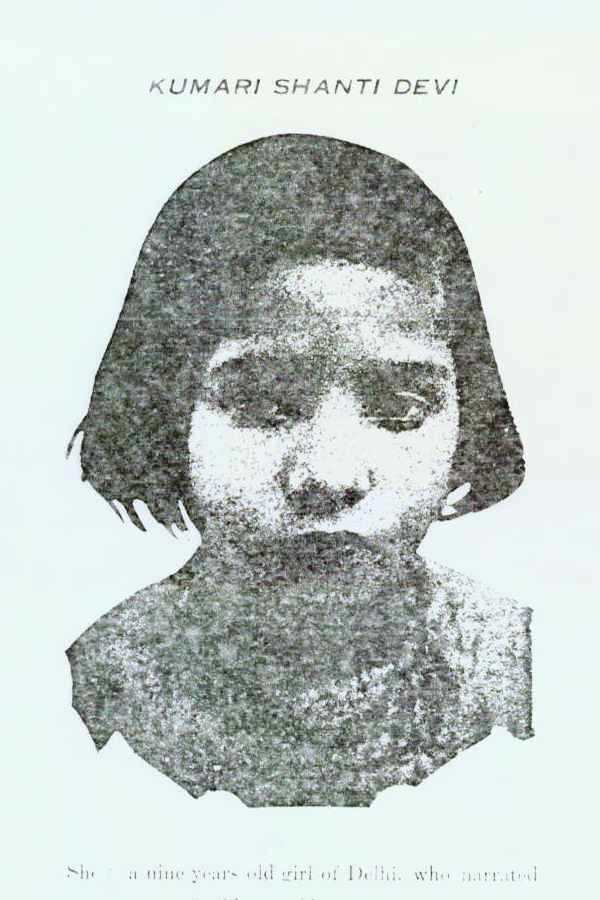 Black and white photograph of Shanti Devi as a young child.