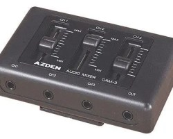 Azden CAM-3 Mini 3-Channel Microphone Mixer