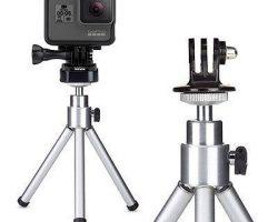 GoPro Tripod Mount with mini tripod
