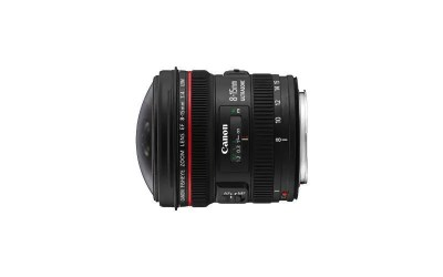 Canon EF8-15mm f/4L Fisheye USM wide range of angle of view