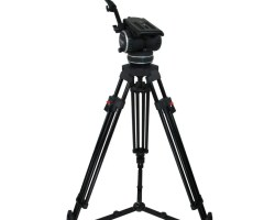 Cartoni C20S (K513/G) 1 Stage Aluminium EFP Tripod with Ground Spreader