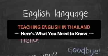 Teaching English in Thailand featured