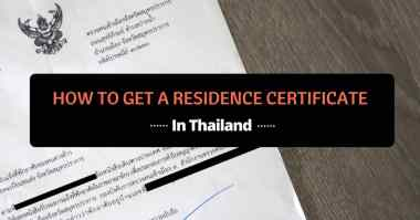 how to get a residence certificate in thailand
