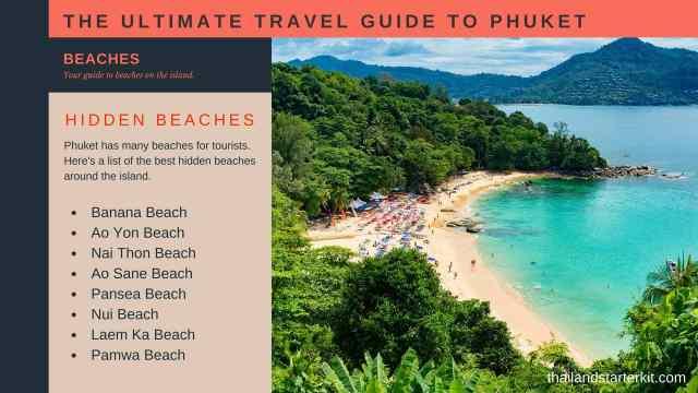 hidden beaches phuket