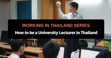 university lecturer thailand